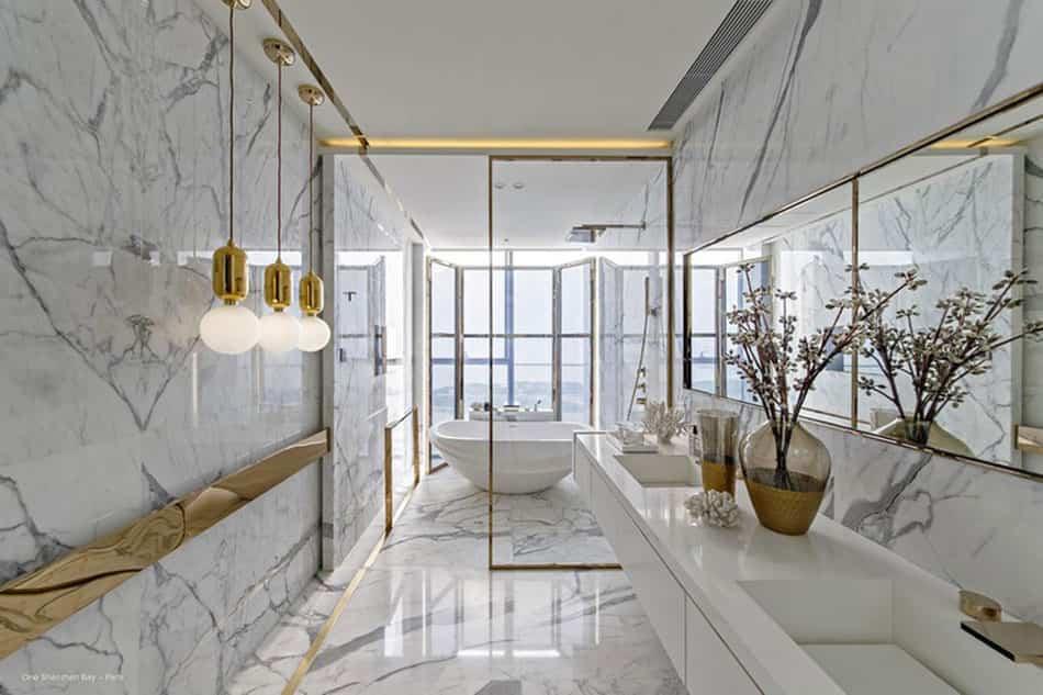 Ideas pr cticas y muy especiales para decorar un ba o con for Con que se limpia el marmol