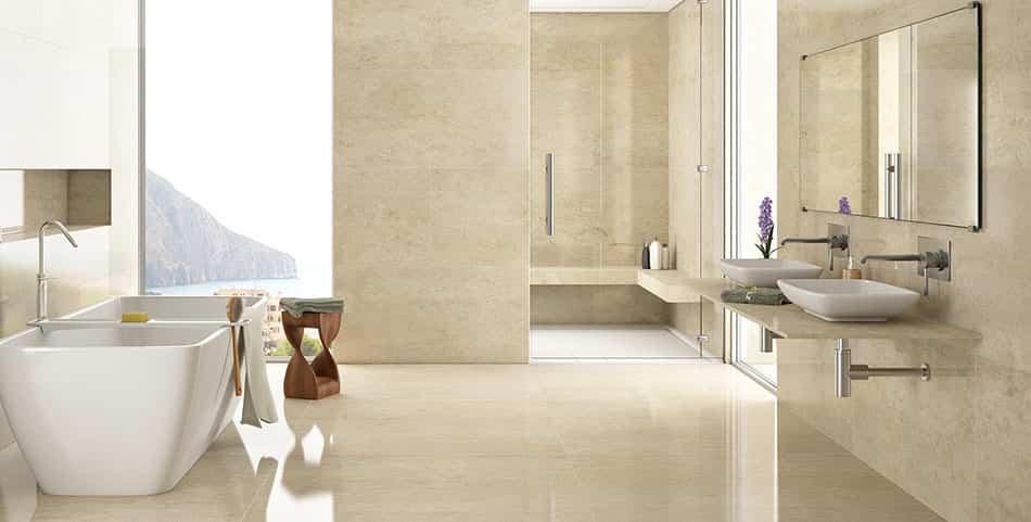 Ideas pr cticas y muy especiales para decorar un ba o con for Banos marmol beige