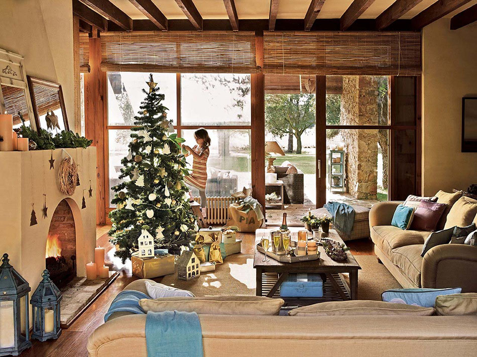 decoración navideña reciclada