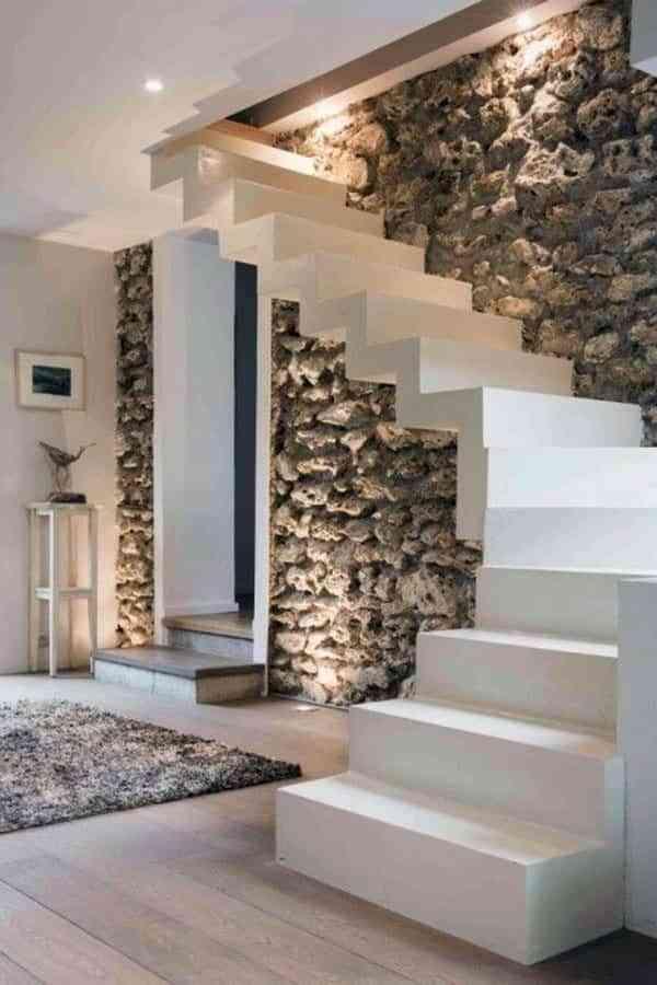 Soluciones para iluminar las paredes de interior de una - Pared interior de piedra ...