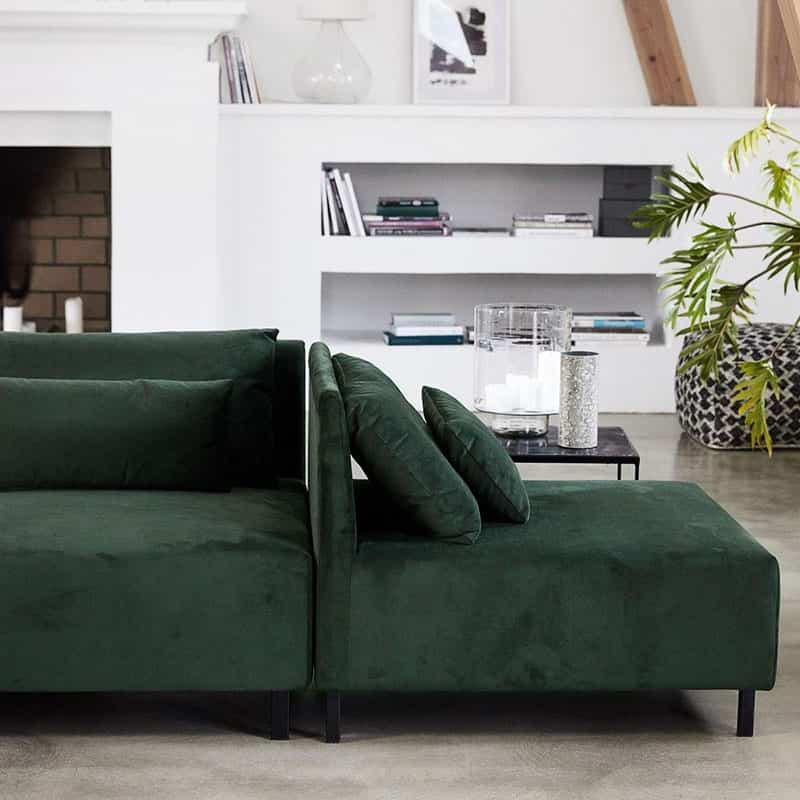 Elige Un Sofa Verde De Terciopelo Y Dale Glamour A Tu Salon