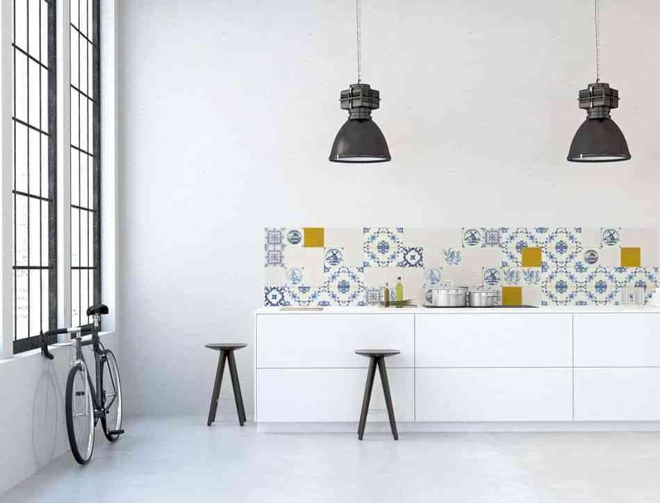 renovar la cocina con papel pintado