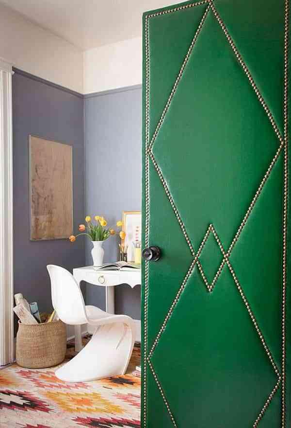 tapizar una puerta