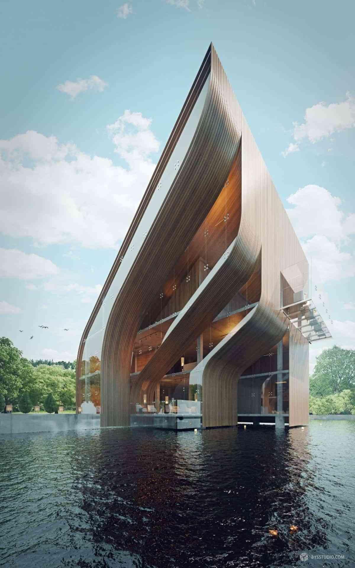 9 de las mejores casas futuristas e interiores