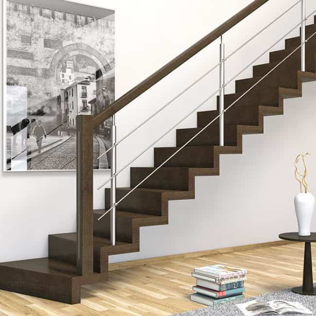 Pasamanos que son un plus decorativo para las escaleras de interior