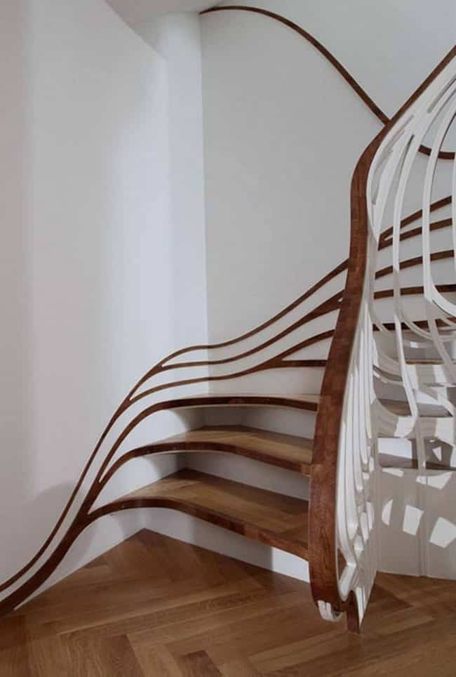 Pasamanos que son un plus decorativo para las escaleras de interior