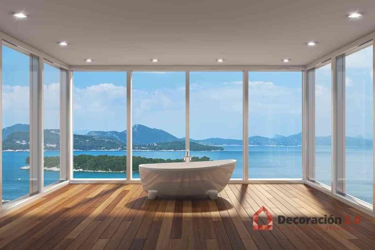 Ventanal mirador con bañera