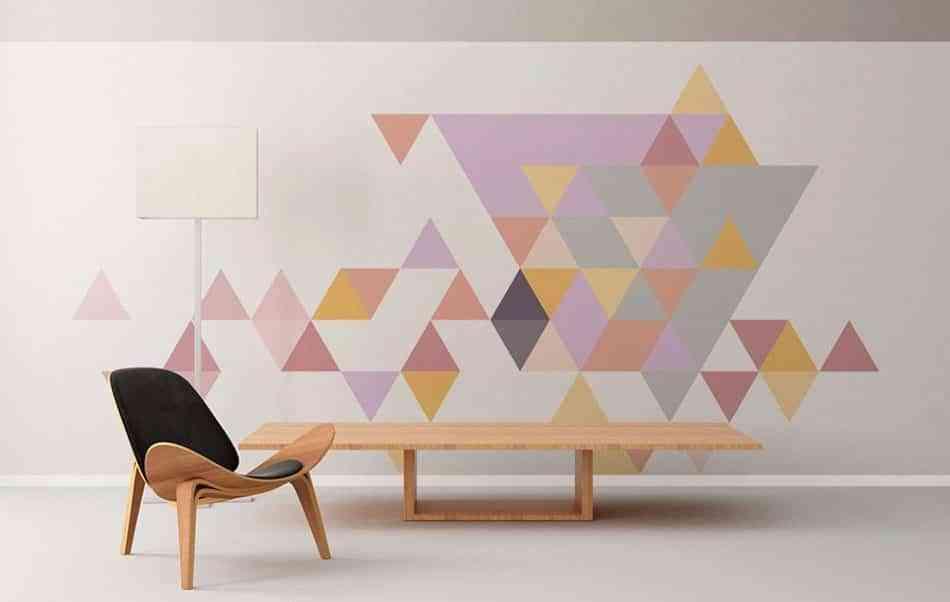 pintar las paredes con juegos ópticos