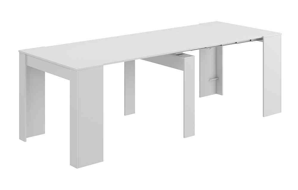 Mesa consola convertible en mesa comedor