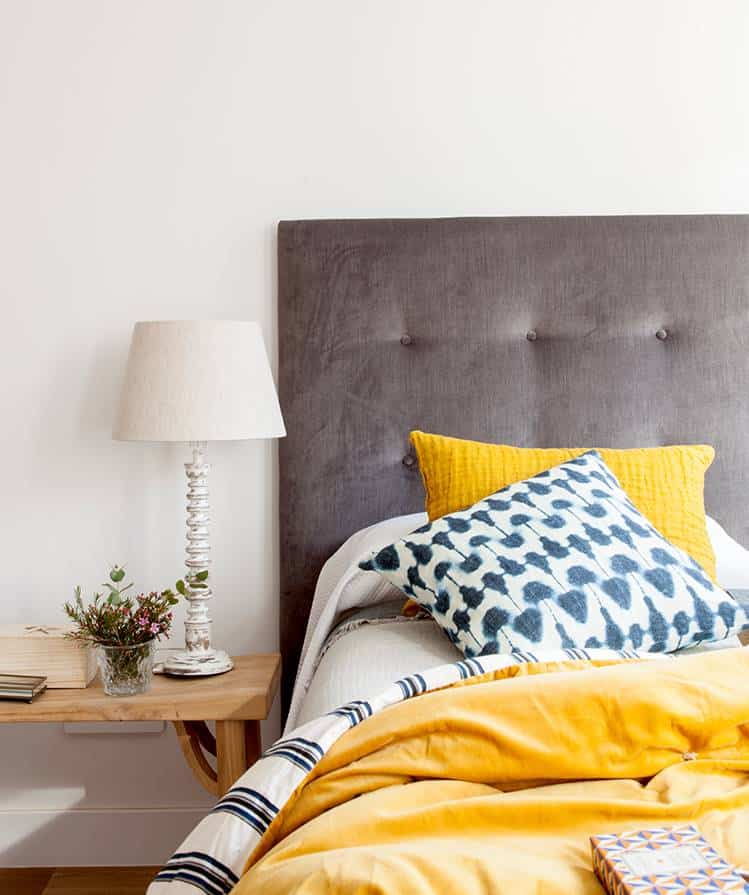 Brown upholstered headboards