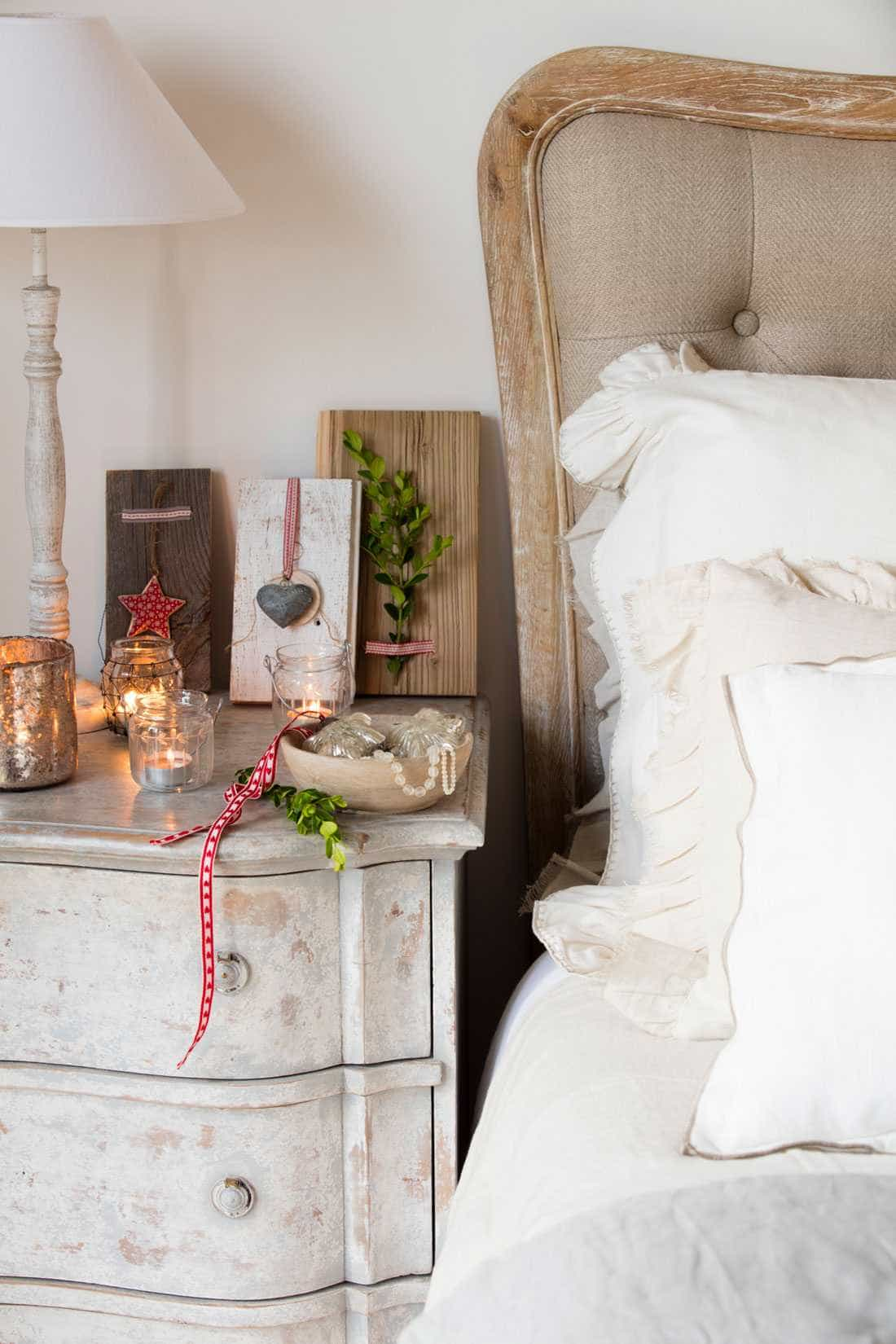Upholstered headboards - rustic style