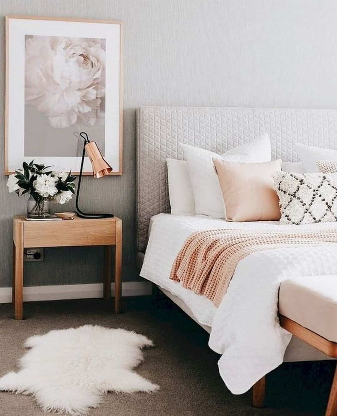 Upholstered beige headboards