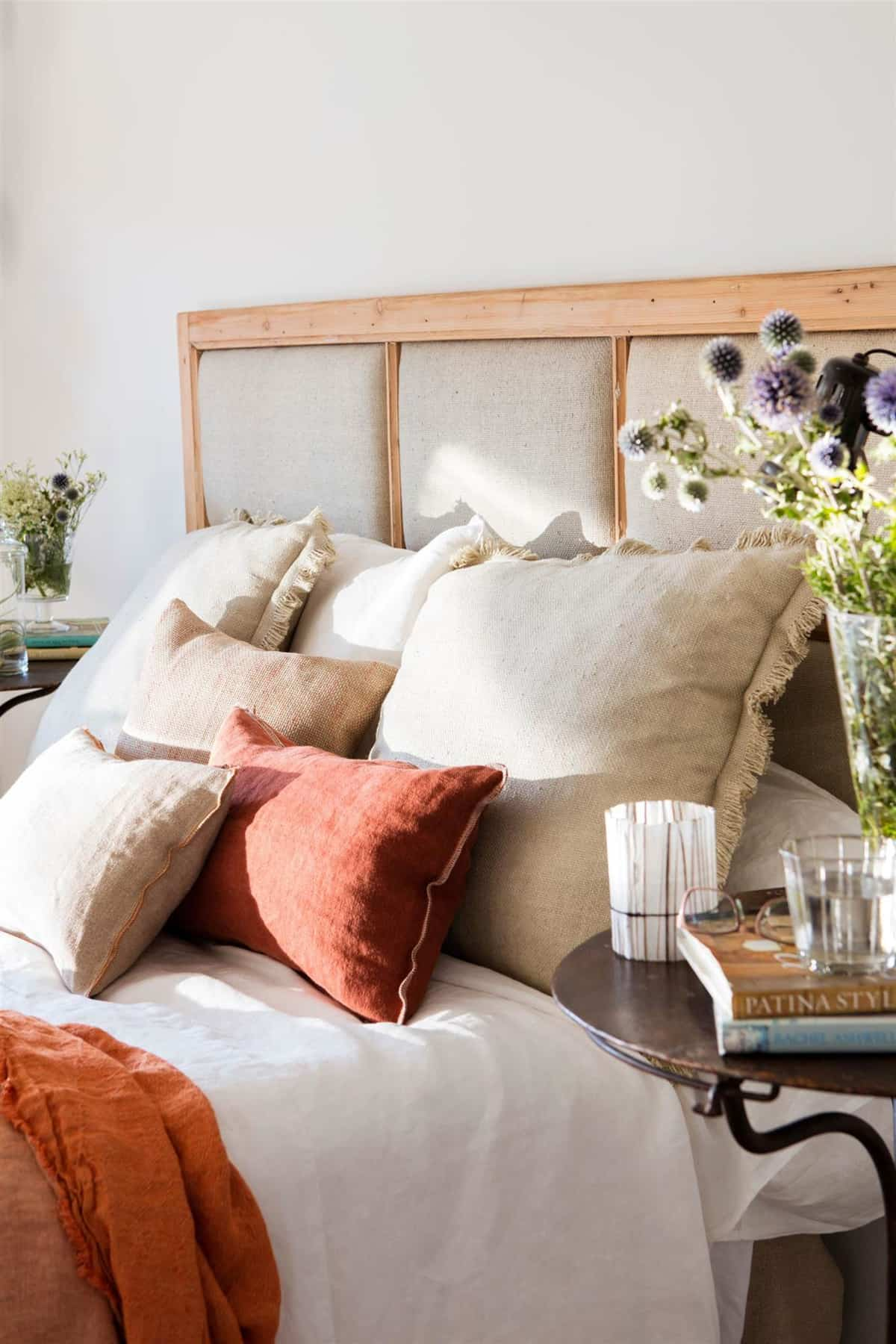 Fluffy upholstered headboards