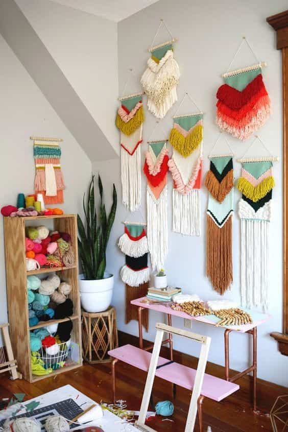 decorar paredes con macrame