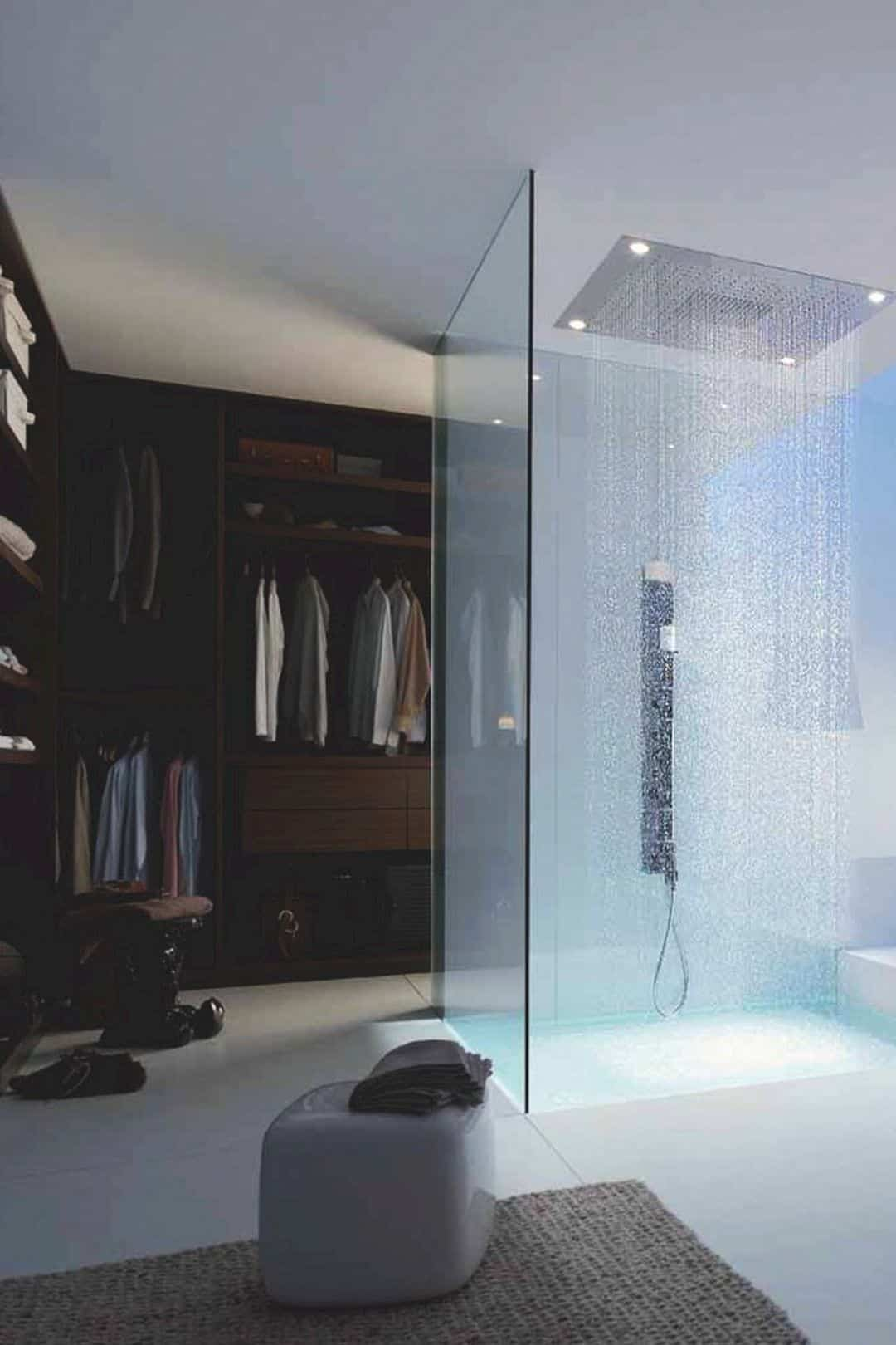 ducha tipo lluvia moderna