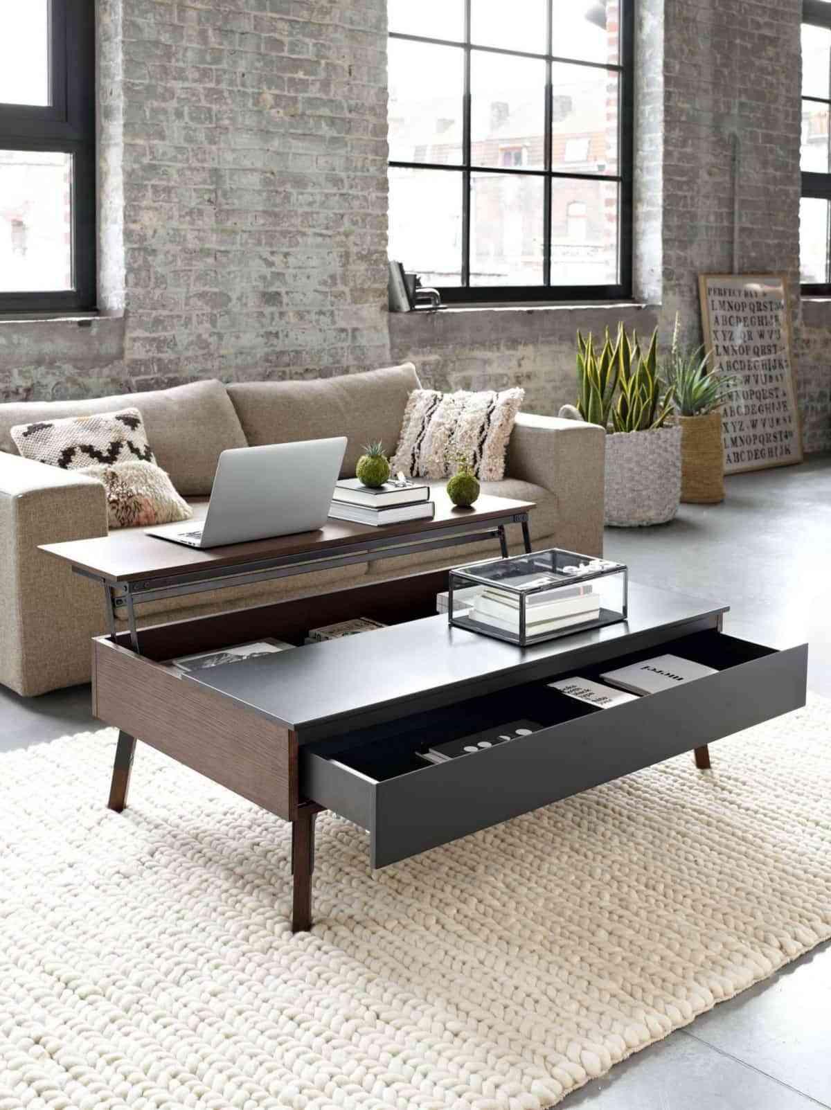 Mesas de centro con ala elevable