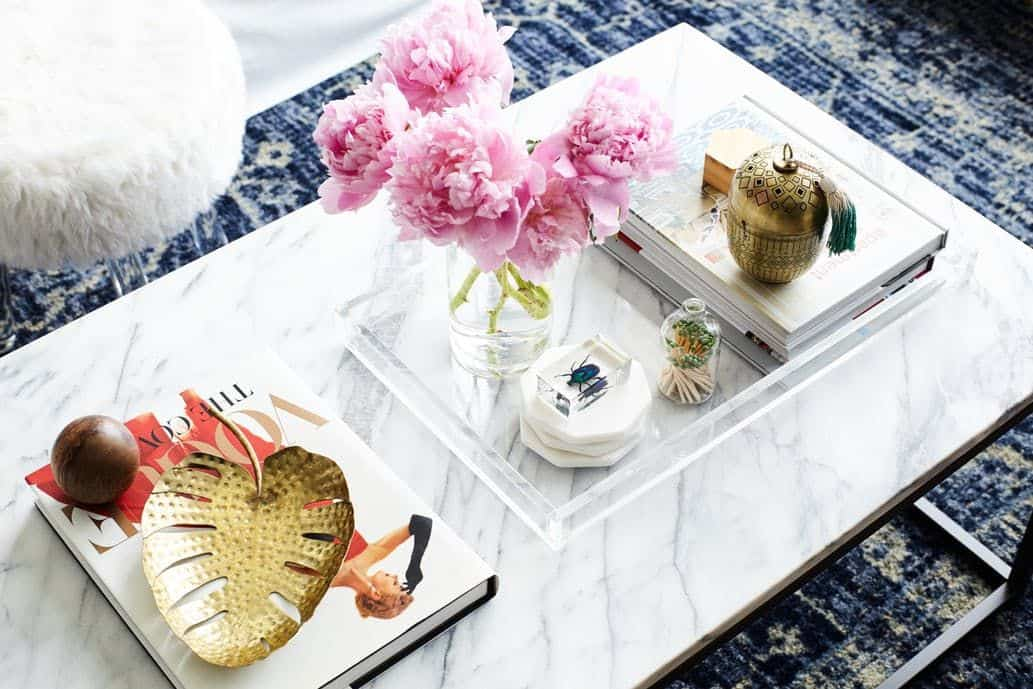 Coffee tables with trays