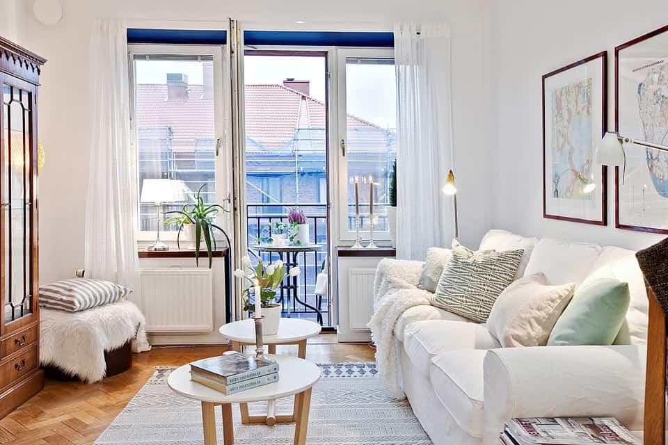 Salones pequeños en color blanco