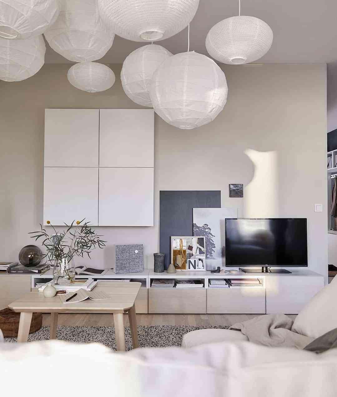 Salones pequeños - luminarias de techo