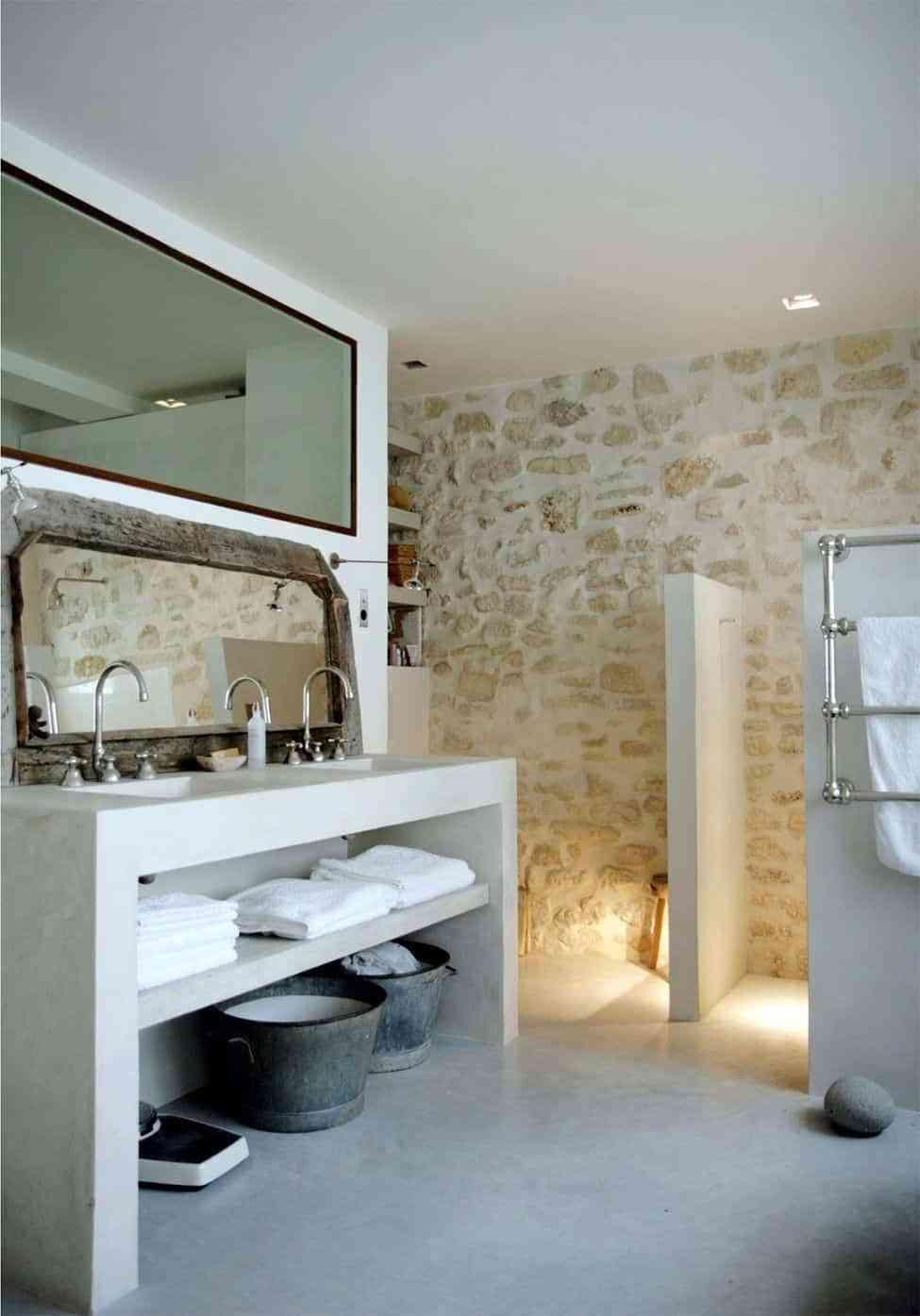 baños rústicos - microcemento