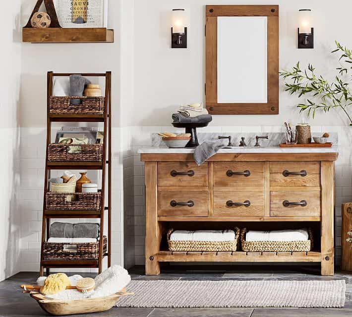 baños rústicos - muebles