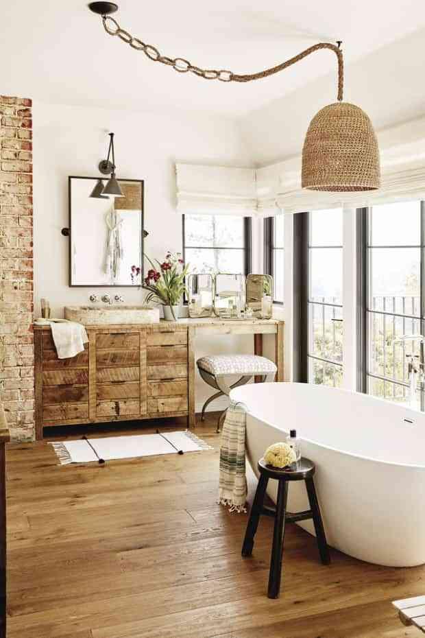 baños rústicos - bañeras blancas