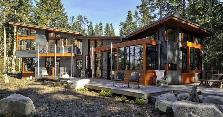 Modular houses - rustic style