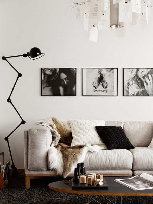 decorar la pared del sofa X