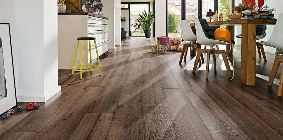 Linoleum floors - wood finish