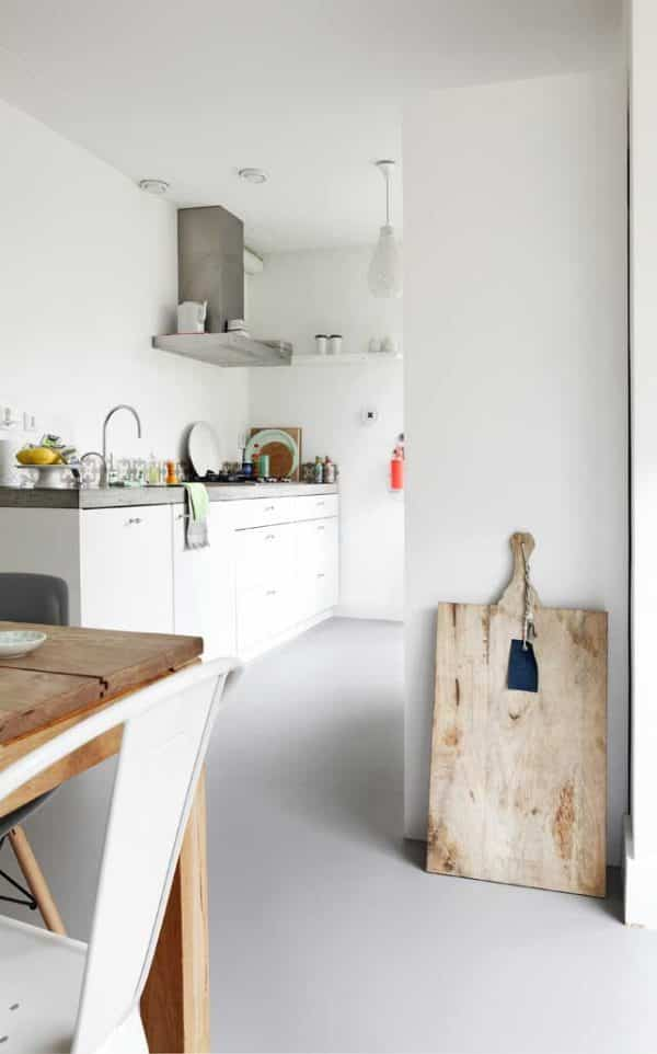 Linoleum floors in a rustic environment