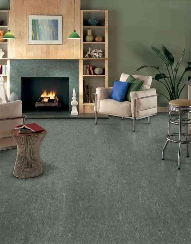 Linoleum floors in the living room