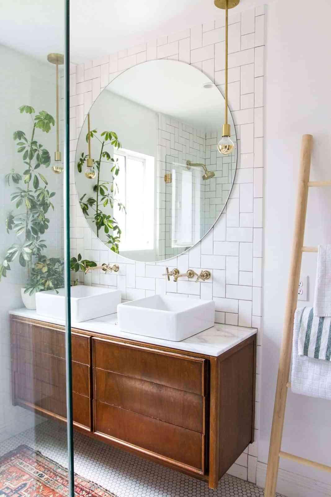 Espejos de baños redondos