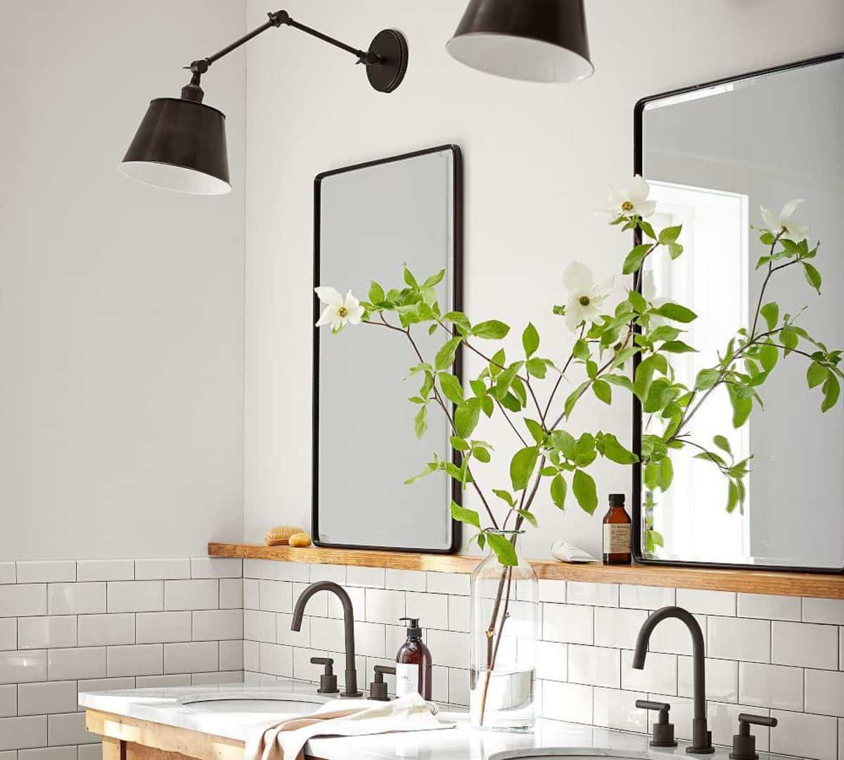 Espejos de baños con repisa