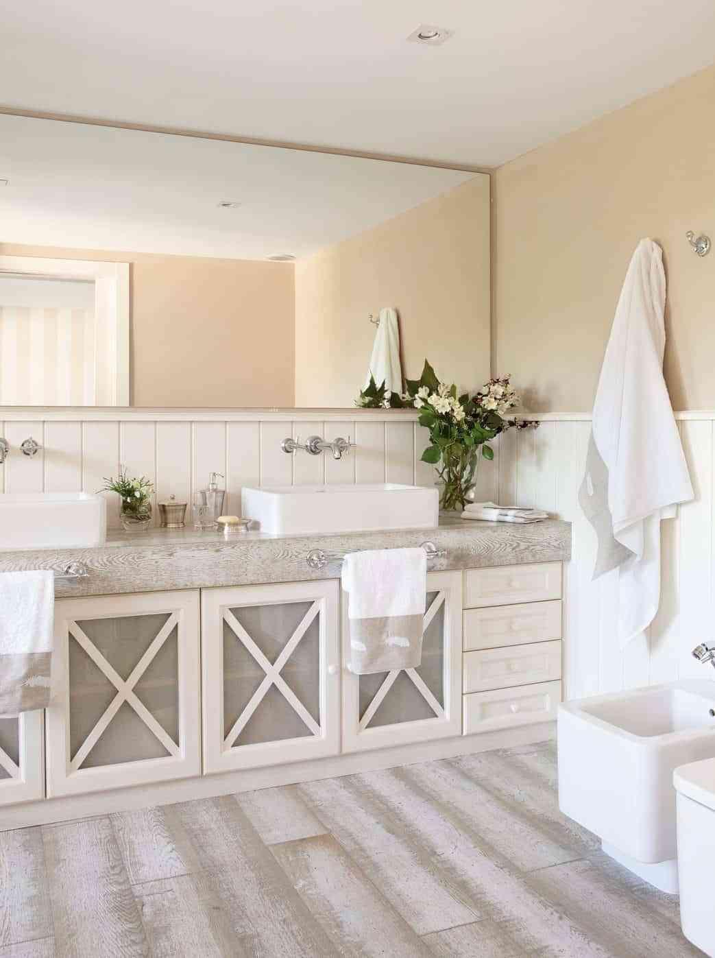 Espejos de baños de pared a pared