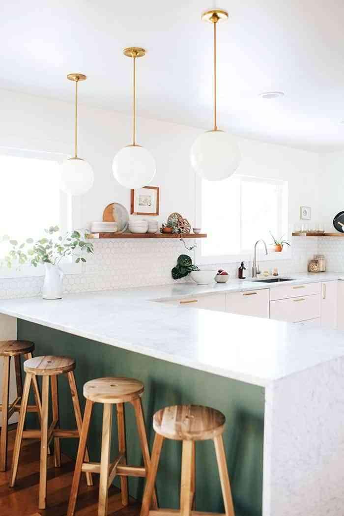 Kitchens - glass luminaries