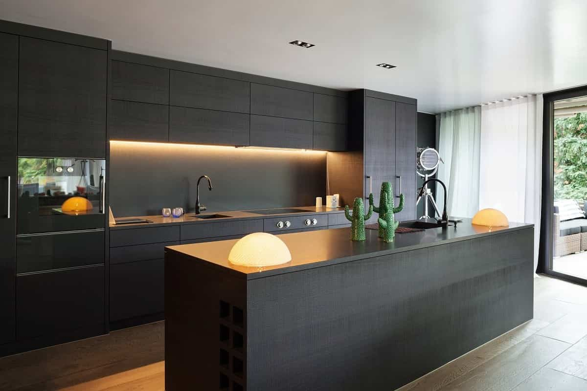 Dark wood kitchens