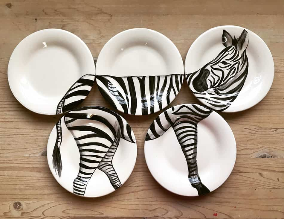 hand-decorated dinnerware