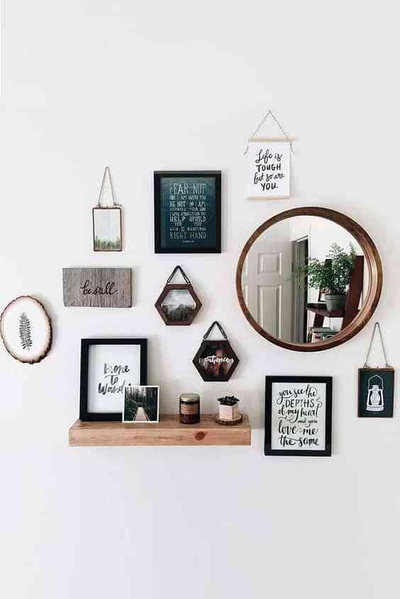 decorar con espejos redondos III