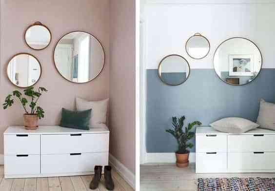 decorar con espejos redondos VI