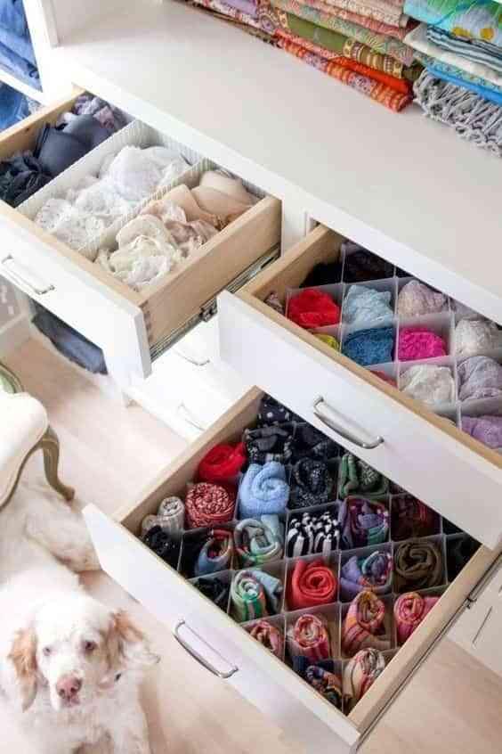organizar la ropa interior VII