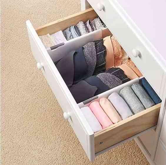 organizar la ropa interior
