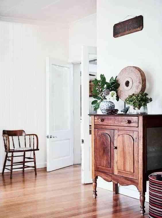 muebles antiguos en casas modernas IV