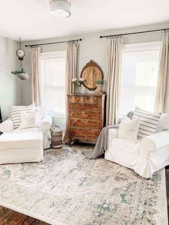 muebles antiguos en casas modernas V