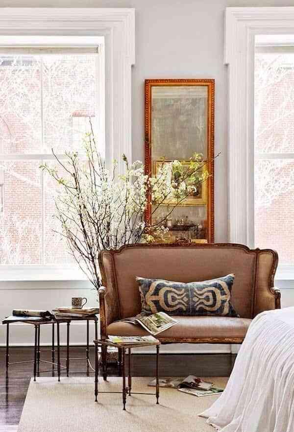 muebles antiguos en casas modernas VII