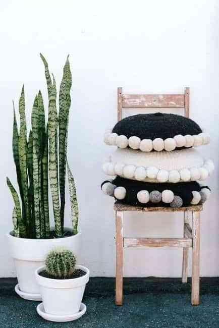 decorar con pompones de lana II