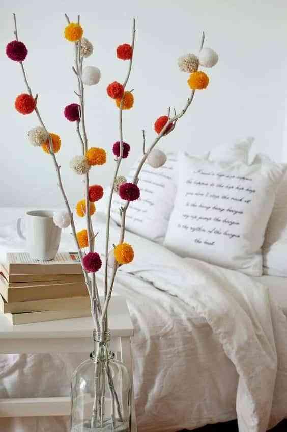 decorar con pompones de lana III