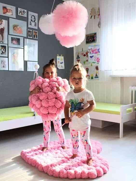 decorar con pompones de lana IV