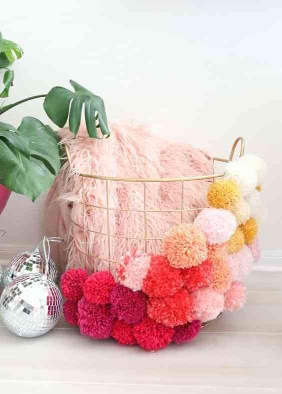 decorar con pompones de lana V