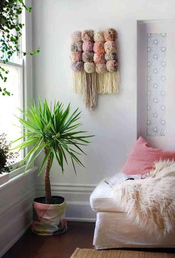 decorar con pompones de lana VIII