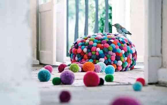 decorar con pompones de lana X